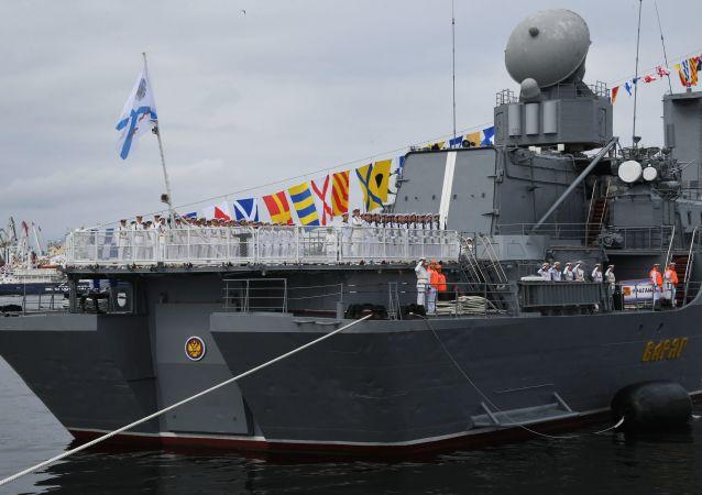 俄海軍節閱兵式在符拉迪沃斯托克和堪察加舉行
