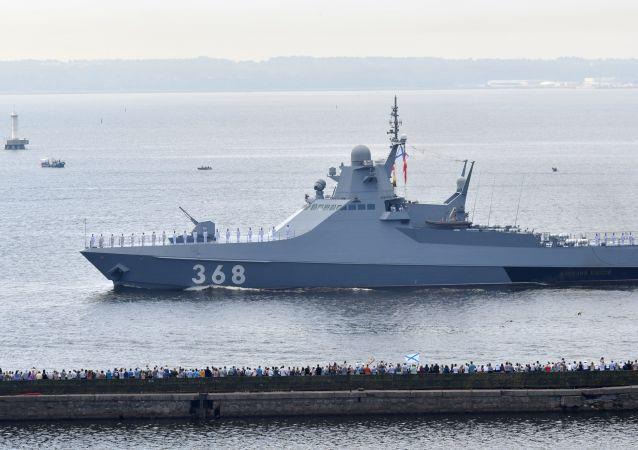 """俄罗斯巡逻舰""""瓦西里•拜可夫""""号"""