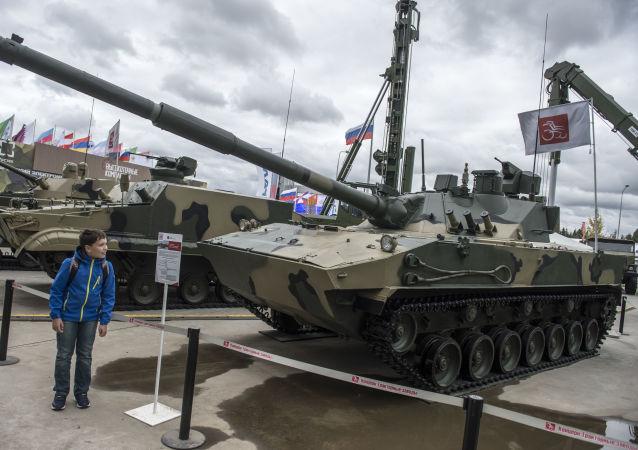 """自行反坦克炮""""章鱼-SDM1""""(Sprut-SDM1)"""