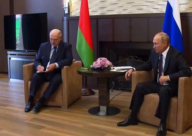 俄羅斯總統普京與白俄羅斯總統盧卡申科, 索契