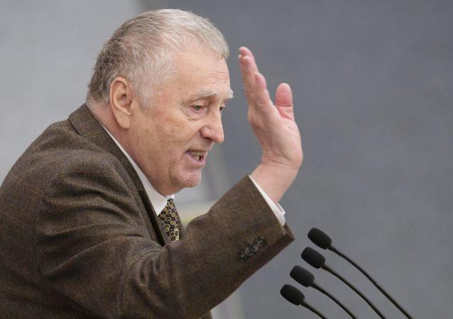 俄罗斯自由民主党领导人弗拉基米尔•日里诺夫斯基