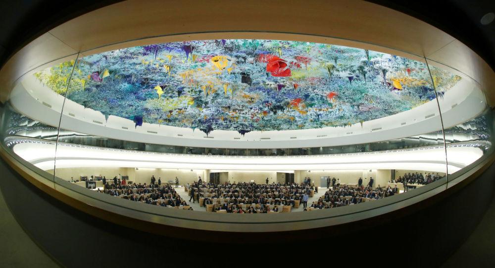 聯合國人權理事會會議(資料圖片)