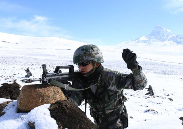 中國西藏軍區士兵