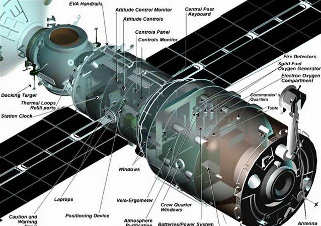"""国际空间站的""""星辰""""号服务舱"""