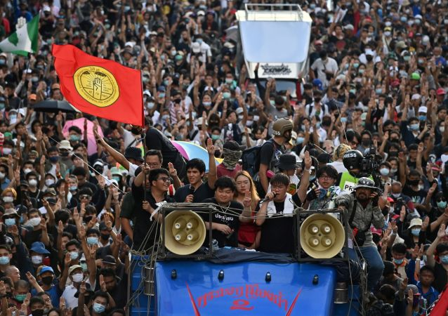 曼谷的抗議活動