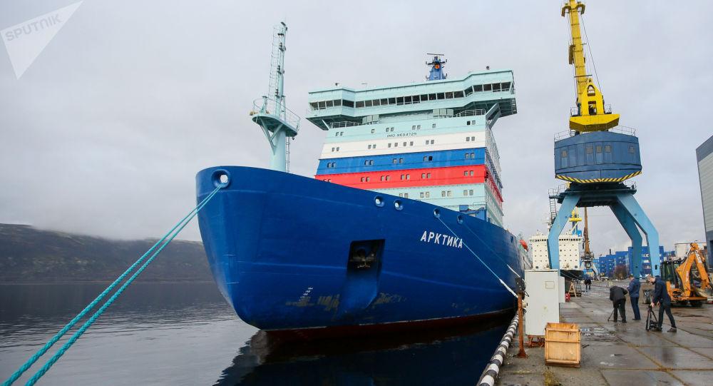 俄核動力破冰船「北極」號將於本週末開始沿北方海路航行