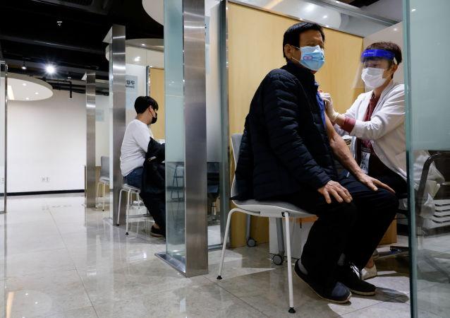 接種流感疫苗(韓國)