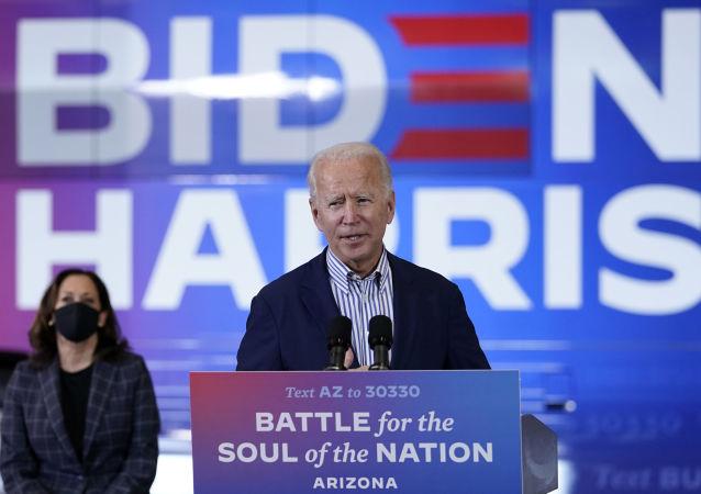 美国民主党总统候选人乔∙拜登和副总统候选人卡玛拉∙哈里斯