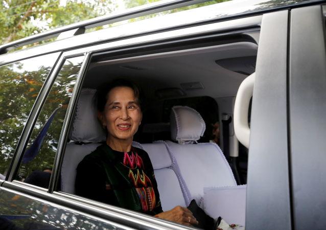 祝贺昂山素季女士领导的民盟赢得缅甸议会多数席位