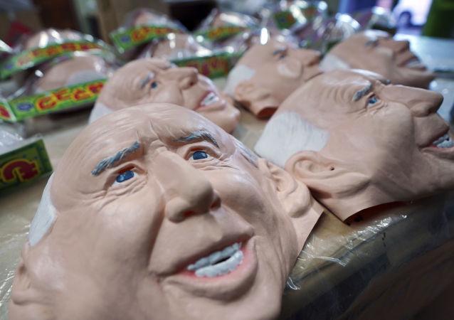 日本公司制作拜登脸形面具