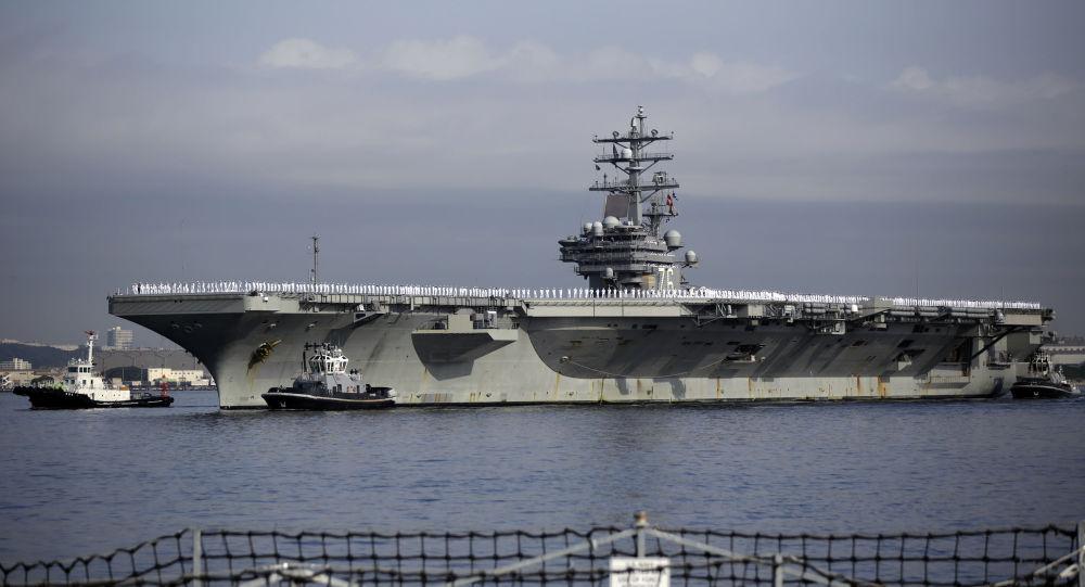 美國「羅納德•里根」號航母進入中國南海