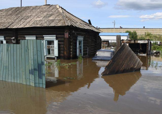 俄外貝加爾邊疆區政府宣佈八個地區進入洪災緊急狀態
