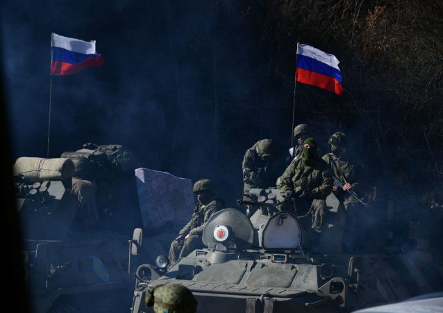 俄羅斯維和人員在卡拉巴赫