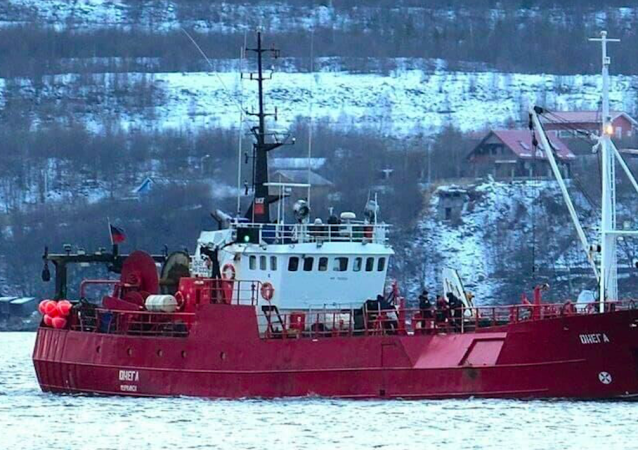 """失事沉没的渔船""""奥涅加""""渔船上或有俄公民"""