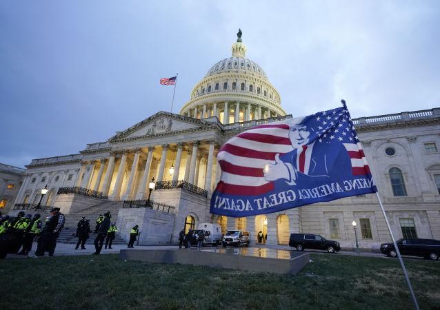 美国总统特朗普称华盛顿骚乱参与者将付出代价