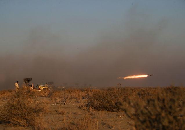 伊朗軍隊在演習