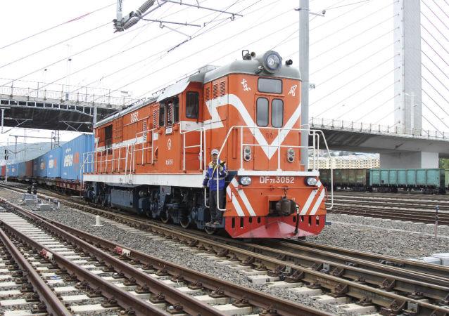 绥芬河铁路口岸中欧班列