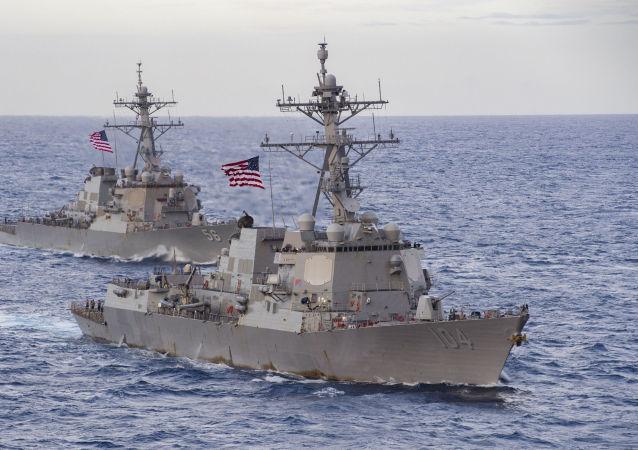 美国海军进入南中国海