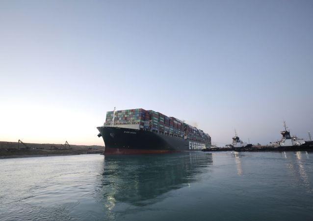 """埃及法院将于下月20日对""""长赐""""号货轮案作出裁决"""