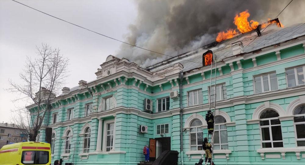 俄布拉戈维申斯克心脏外科中心发生火灾