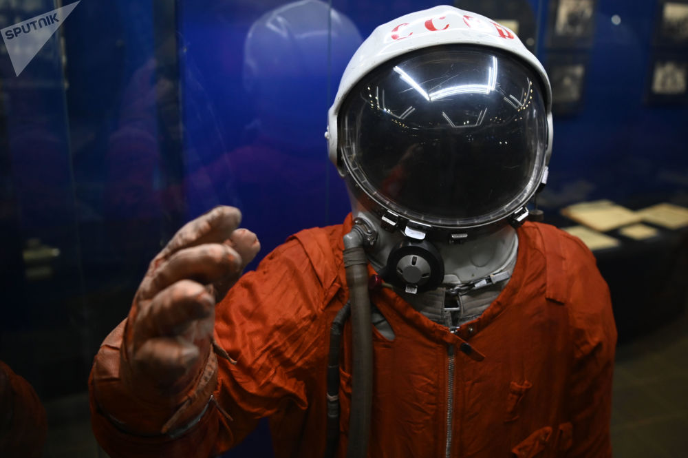 加加林市首飞太空博物馆展出的SK-1宇航服。