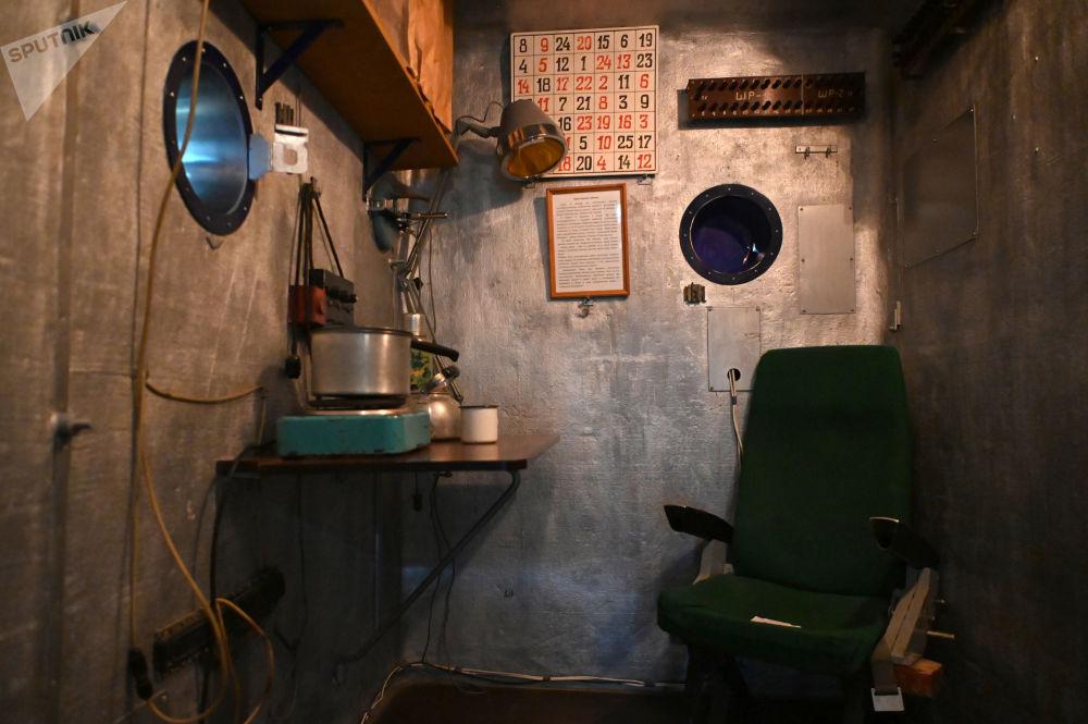 加加林市首飞太空博物馆展出的SBK48隔音气压舱。
