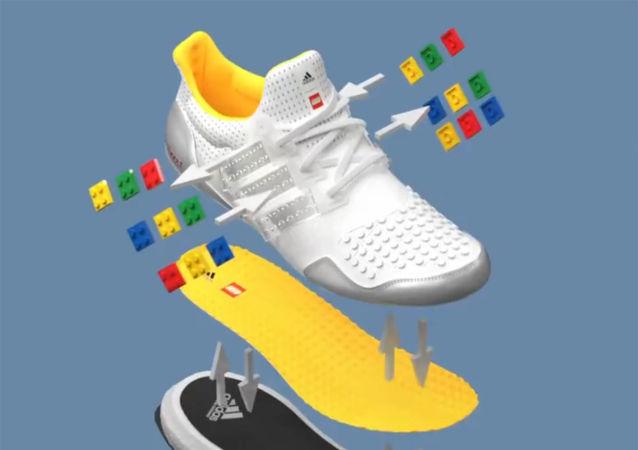 阿迪达斯发布乐高风格运动鞋