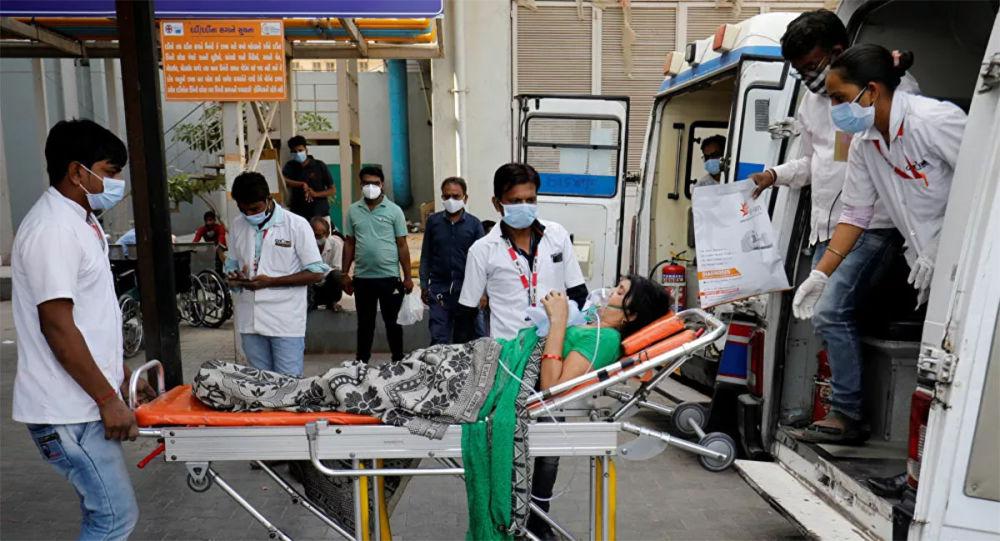 印度新增确诊新冠病毒感染病例创新高