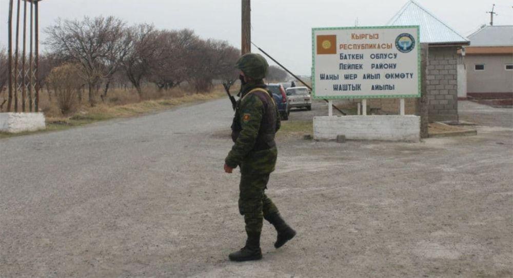 吉尔吉斯斯坦边防军人