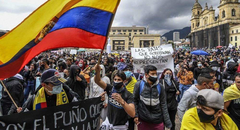 哥倫比亞首都26日的抗議遊行至少造成139人受傷
