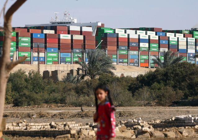 造成苏伊士运河堵塞的货柜轮保险商称6亿美元索赔金额过高