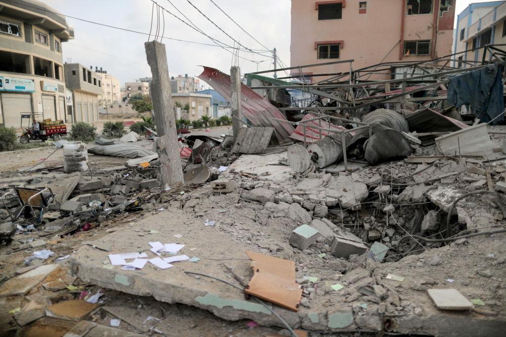 以色列空军对加沙实施空袭。