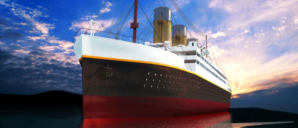"""中国四川,建造中的""""泰坦尼克""""号复制品。"""