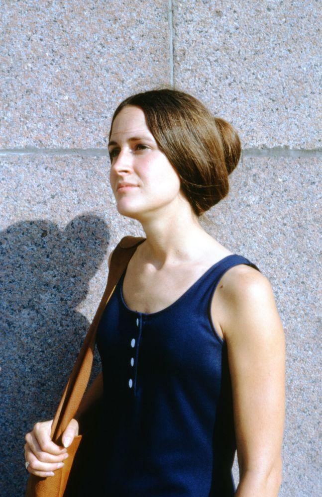 在莫斯科拍摄的姑娘。