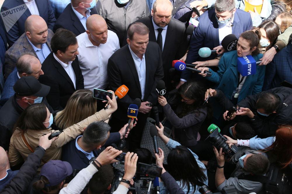基辅,梅德韦丘克对判决提出上诉。