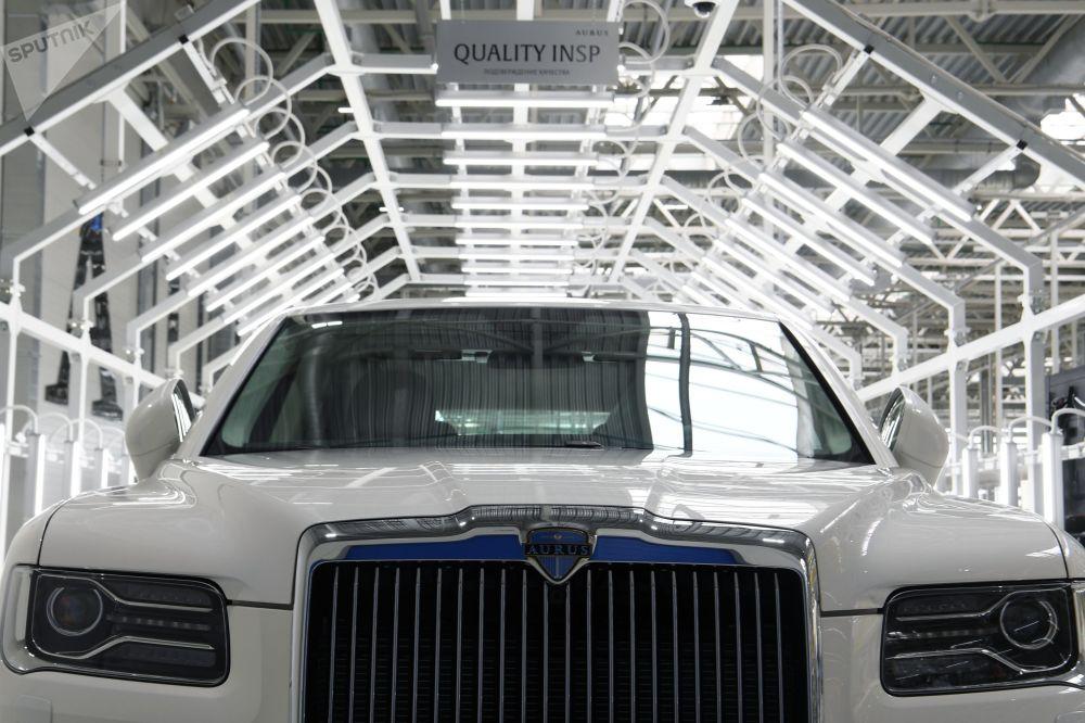 普京通过视频连线在Aurus工厂投产仪式上指出,Aurus的创始人完成了任务。