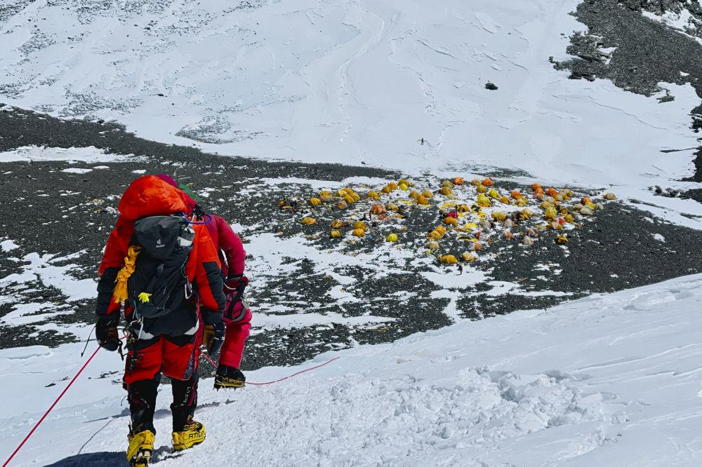 尼泊尔境内的珠峰第4营地。