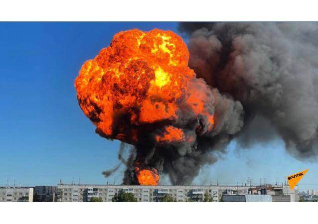 新西伯利亞加油站儲油罐發生爆炸