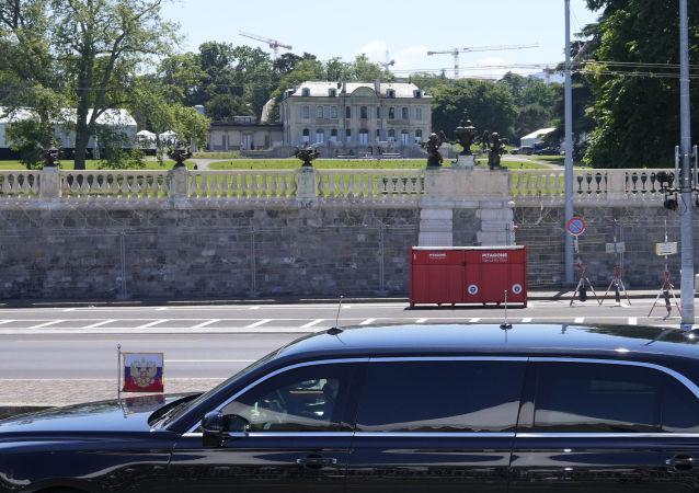 俄总统普京抵达俄美峰会地点日内瓦拉格兰奇别墅