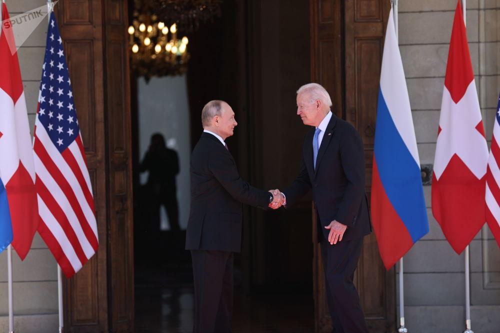 俄羅斯總統普京和美國總統拜登在日內瓦會晤