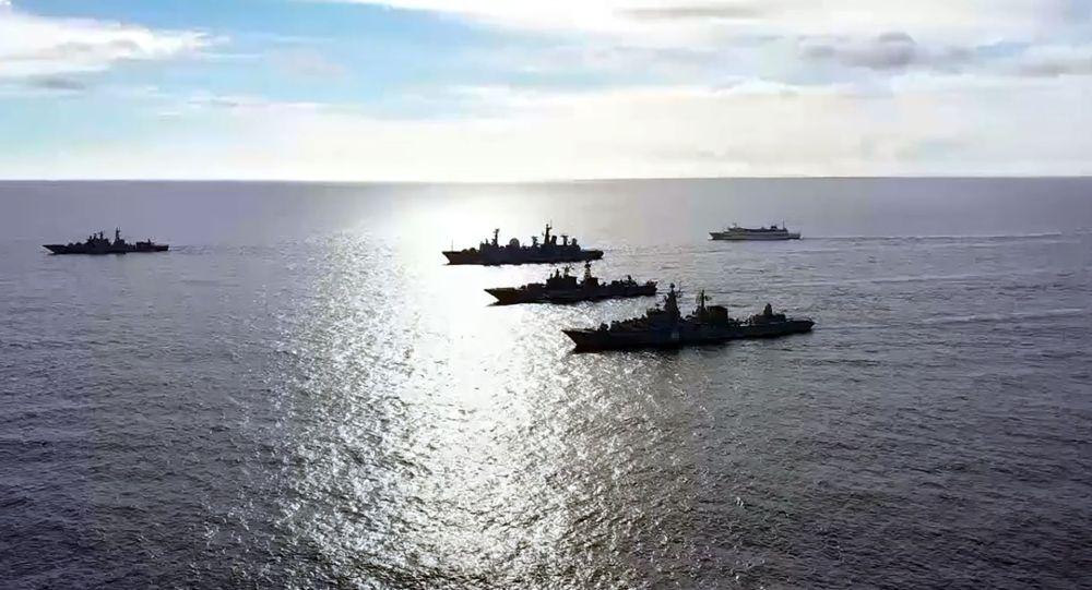 俄国防部:3架图-95和2艘战舰在太平洋演练假想攻击