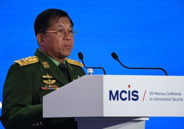 緬甸國家管理委員會主席 敏昂萊