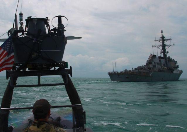 """俄专家:驱逐舰群旨在弥补美国反潜防御的""""漏洞"""""""
