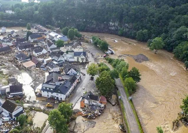 德國政府認為在洪水災區找到幸存者的希望渺茫