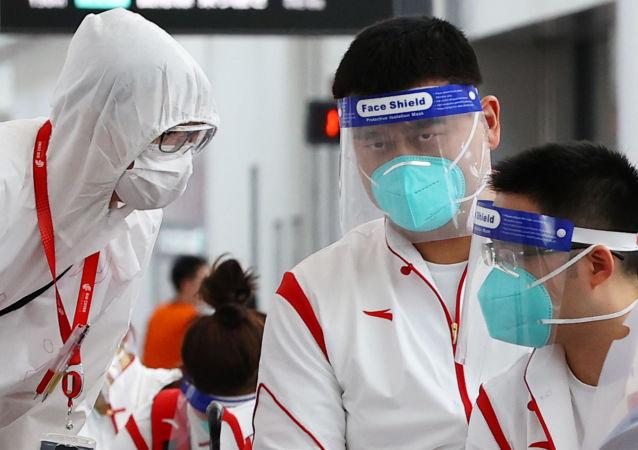 2020年東京奧運會的參賽運動員陸續抵達日本