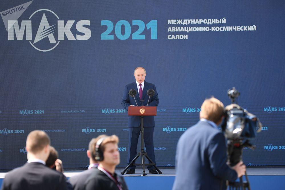 2021年莫斯科國際航空航天展覽會開幕式上的精彩瞬間