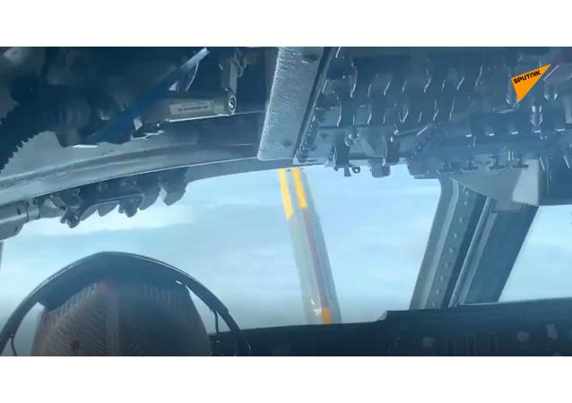 美國五角大樓展示「審判日」核戰指揮機空中加油畫面