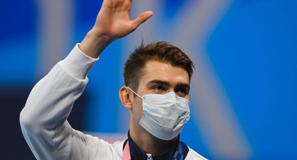俄選手科列斯尼科夫贏得奧運會100米自由泳銅牌