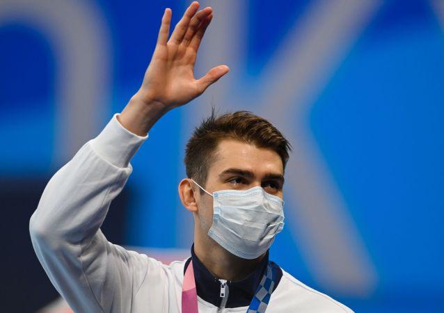 俄选手科列斯尼科夫赢得奥运会100米自由泳铜牌