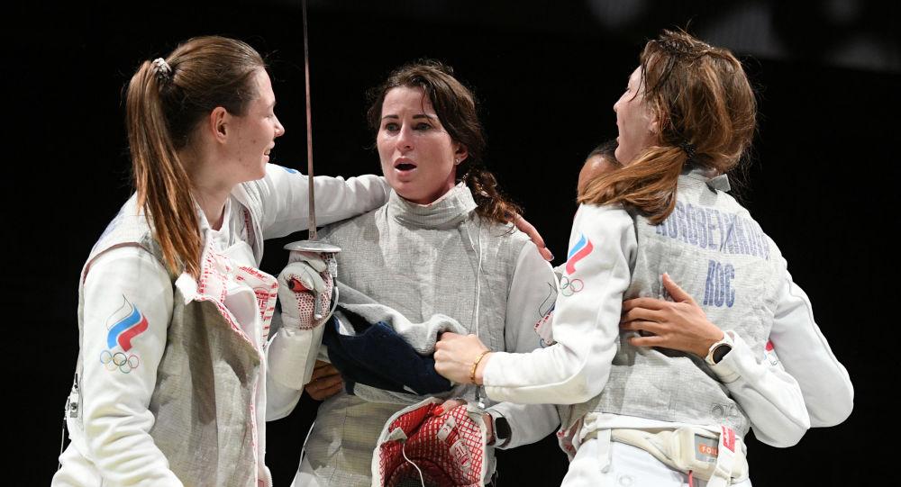 俄女子擊劍選手進入東京奧運會女子花劍團體決賽